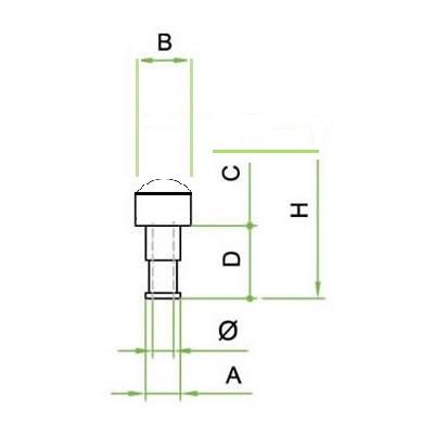 Silenziatore a cupola innesto baionetta - SIB/CR in filo inox