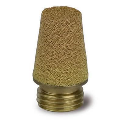 Silenziatore conico in bronzo sferico sinterizzato su base circolare in ottone