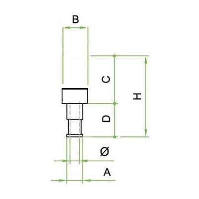 Silenziatore disco innesto baionetta - SIB/CP in bronzo sferico sinterizzato