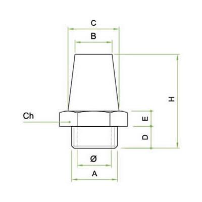 Silenziatore SIE integrale in bronzo sferico sinterizzato