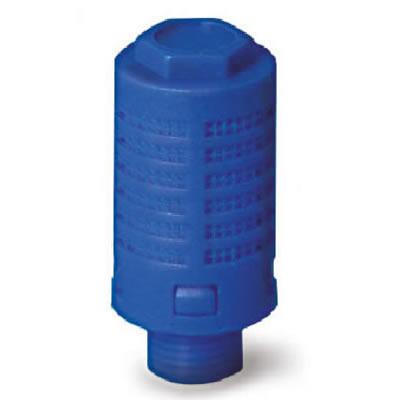 Silenziatore plastica statico con cartuccia in politene sinterizzato