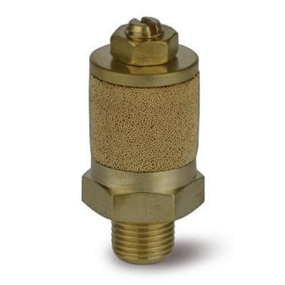 Valvola VRFB regolatrice in ottone con silenziatore a boccola in bronzo sferico sinterizzato