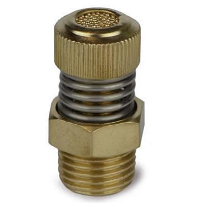 Valvola SBR regolatrice in ottone con silenziatore a pastiglia in bronzo sferico sinterizzato